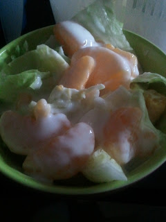[Rezept] Eisbergsalat mit Joghurt-Mandarinen-Dressing