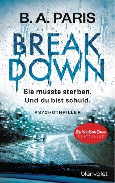 Cover Break Down B.A. Paris