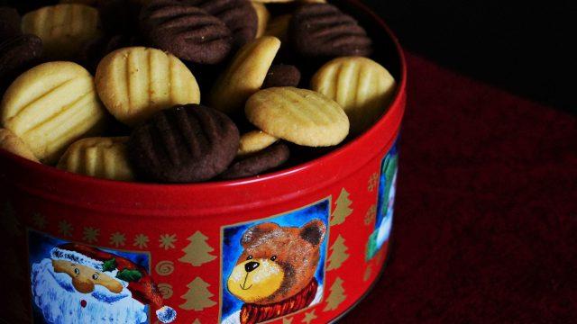 Schoko und Vanille Puddingplätzchen